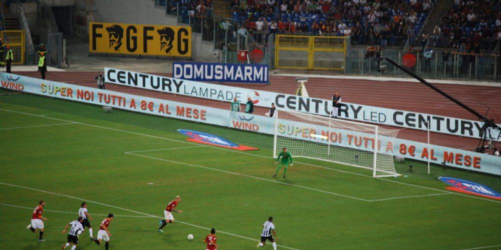 Pubblicità allo stadio di Roma