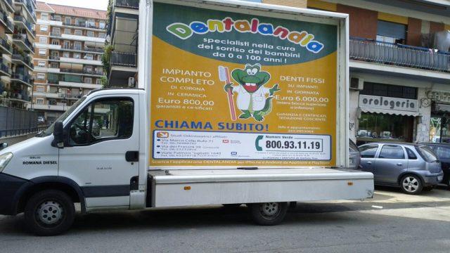 Vele pubblicitarie a Roma